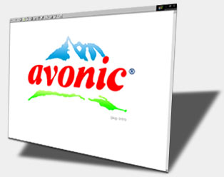 Flash website designed for: Avonic Waters